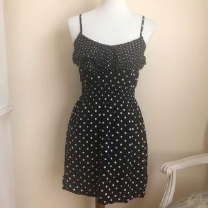 Elle B/W Polka Dot Ruffle Dress